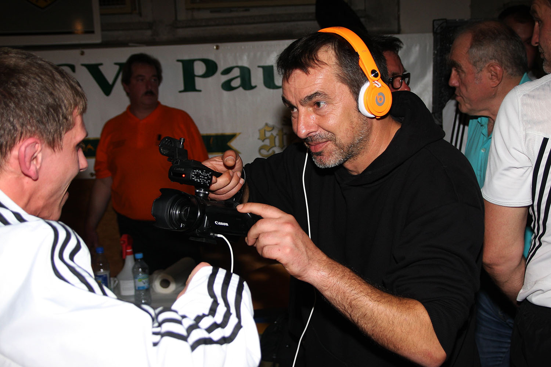 Jürgen Wolf beim Interview