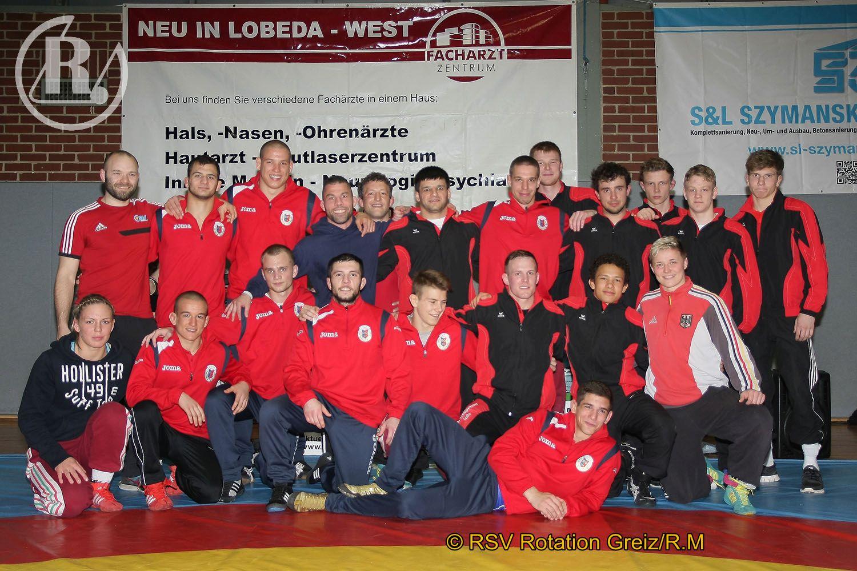 Länderkampf im Ringen zwischen einer verstärkten Thüringer Auswahl und SC Csepel Budapest