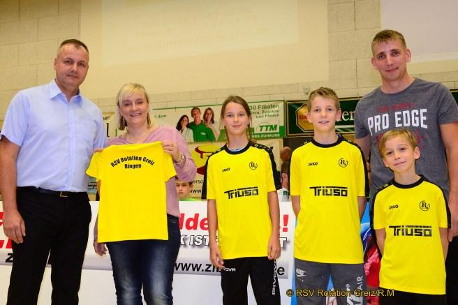 Thomas Fähndrich, Janett Löffler, Pauline und Pascal Hessel, Silas Warmuth und Roland Hessel
