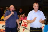 Hallensprecher Frank Böttger und RSV-Präsident Thomas Fähndrich