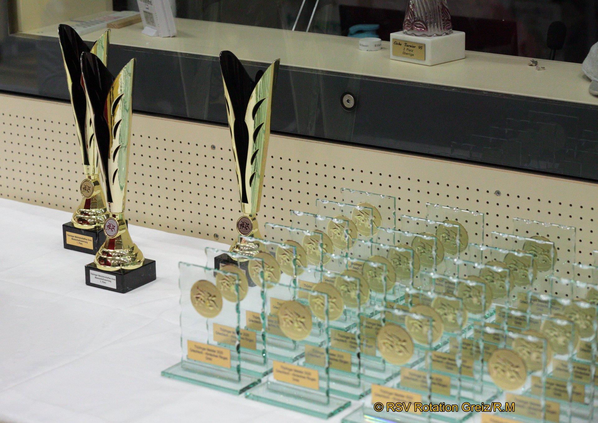 Die Thüringer Einzelmeisterschaften der Ringer im griechisch-römischen Stil wurden zu einem großartigen Erfolg für die Gastgeber des RSV Rotation Greiz. Die Greizer stellten in eigener Halle in Greiz-Aubachtal nicht nur mit 38 Startern die weitaus meisten Teilnehmer, sie gewannen auch mit 25 Medaillen das meiste Edelmetall.