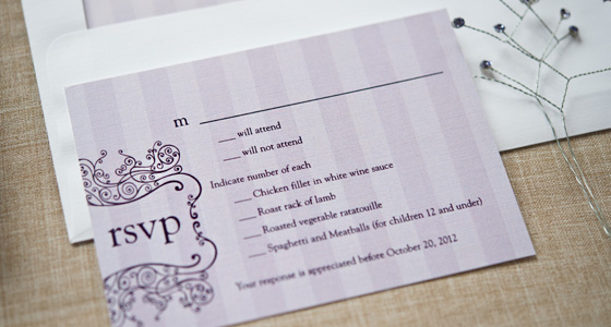 Online Wedding Invitations And Rsvp: Online Wedding RSVP Etiquette
