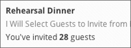 Digital RSVP Sub-Events