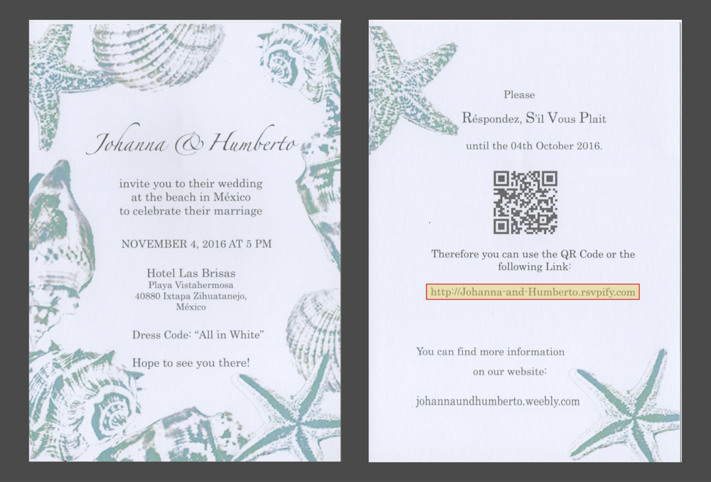 Send paper wedding invitations and collect digital RSVPs