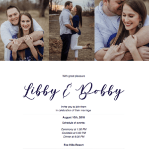 Online Wedding RSVP Design