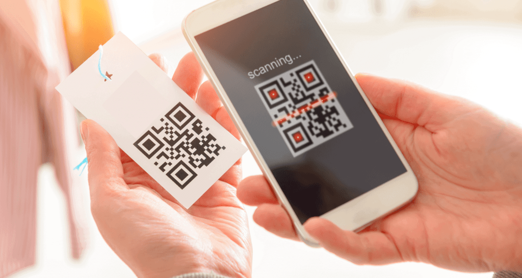 Scanning mobile QR code to check a guest into an event