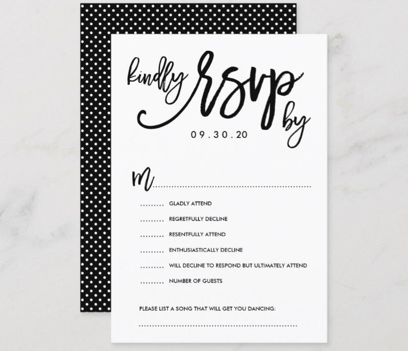 regretfully decline wedding invitation sample