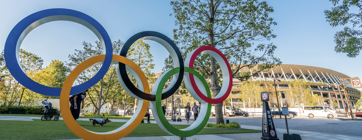 Could the 2020 Olympic Games in Tokyo be canceled due to coronavirus fears? Olympic rings in Tokyo.