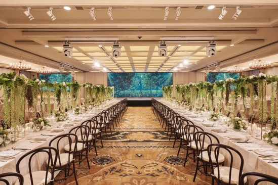 Regent Singapore Ballroom Transformed with California Wedding Theme and LED Screen