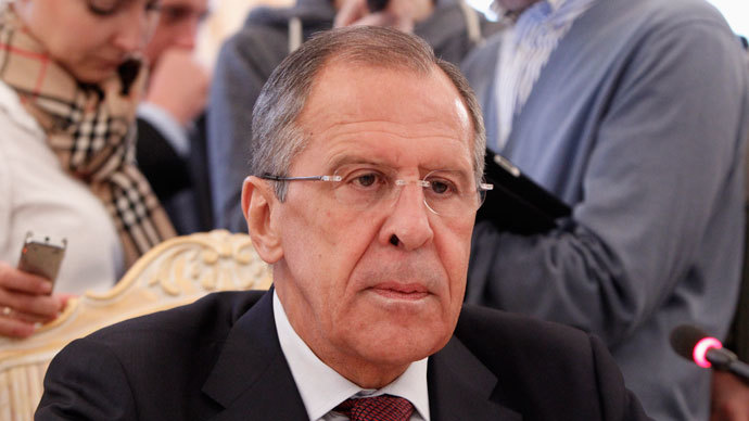 Russia's Foreign Minister Sergei Lavrov attends a meeting with his Libyan counterpart Mohammed Abdulaziz in Moscow, September 10, 2013.(Reuters / Maxim Shemetov)