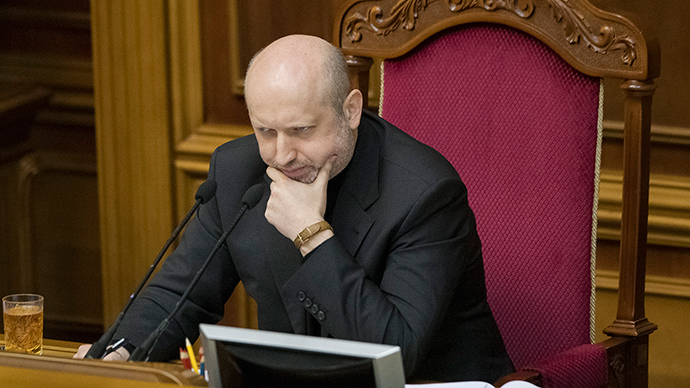 Newly-elected speaker of parliament Aleksandr Turchinov (Reuters)