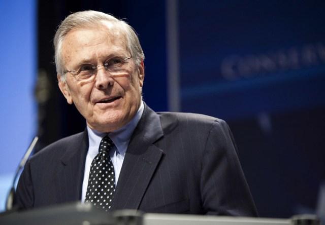 Former Secretary of Defence Donald Rumsfeld. (Reuters/Joshua Roberts)