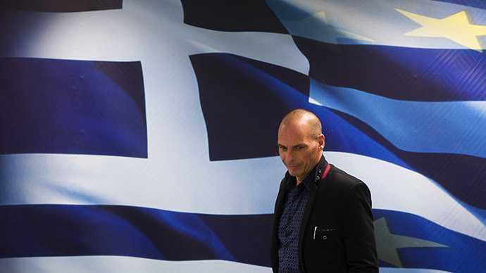 Newly appointed Greek Finance Minister Yanis Varoufakis arrives at a hand over ceremony in Athens, January 28, 2015. (Reuters/Marko Djurica)