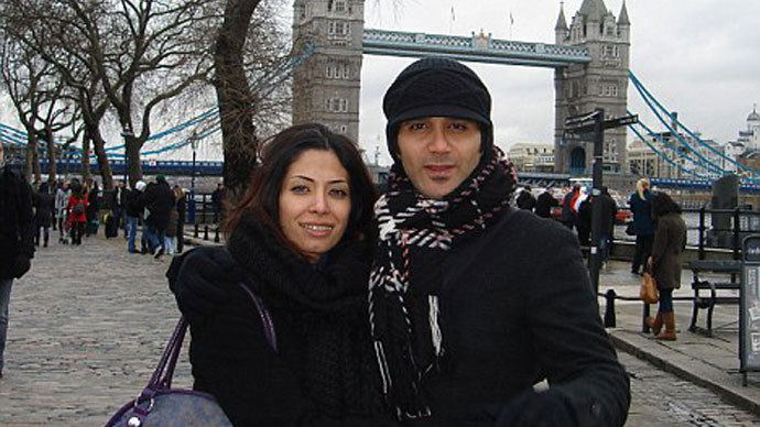 Dr Fatima Haji and her husband Jalal Marzouk on holiday in London.