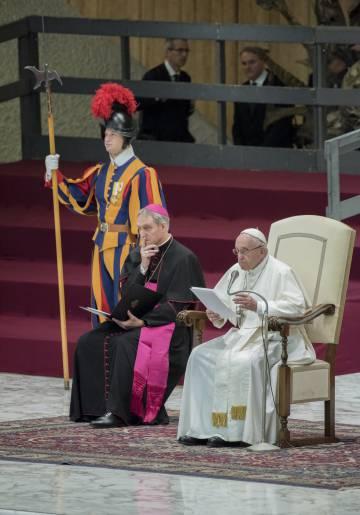 El Papa Francisco, durante una audiencia semanal.