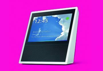 Echo Show La inteligencia de Alexa al alcance de nuestra voz y de nuestros dedos. Su pantalla táctil complementa el modelo de interacción para que podamos sacar provecho de todo su potencial. 229,99 $ (197,15 €)