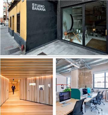 La sede y los pasillos forrados en madera de la oficina de E&Y en Londres.