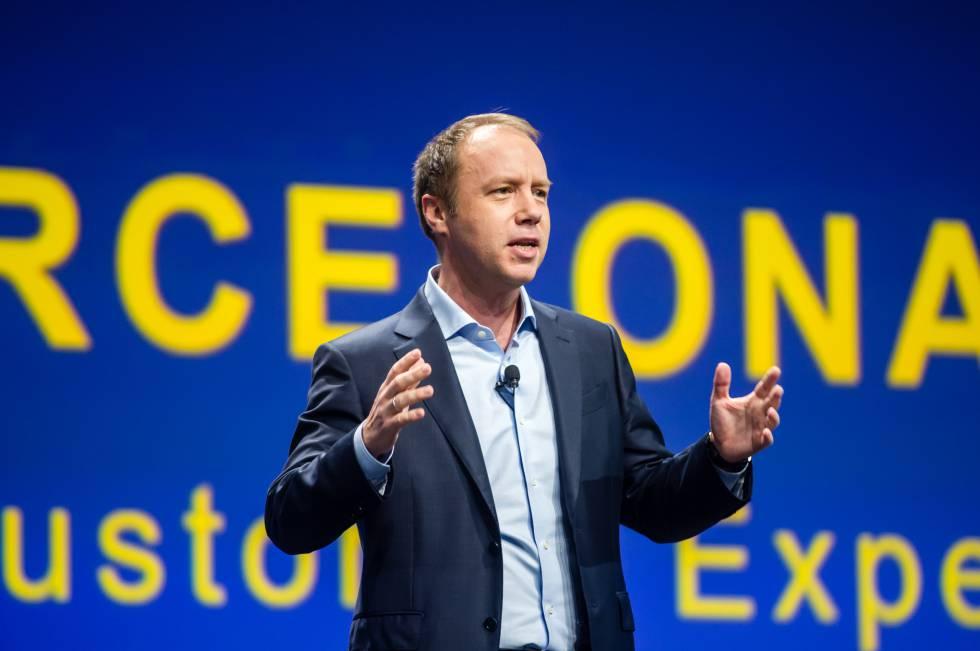Atzberger, durante una intervención en el congreso mundial de SAP celebrado en Barcelona.