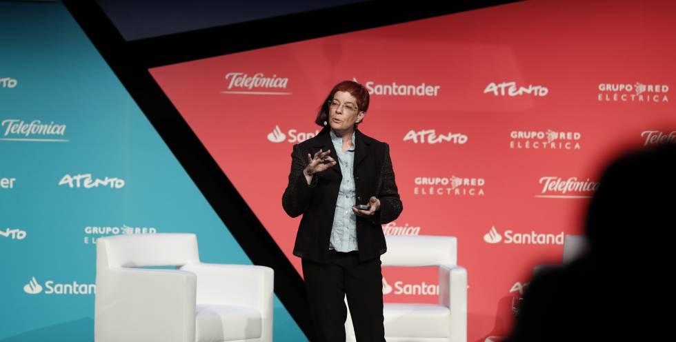 Mitchell Baker durante su intervención en el evento Tecnología y Sociedad, organizado por El País Retina