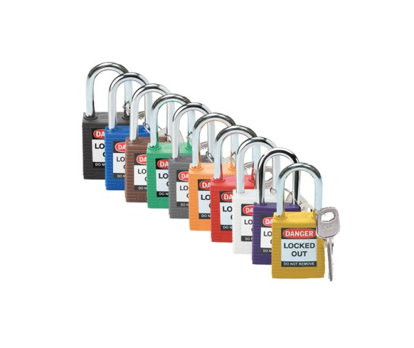 standard safety padlock colours