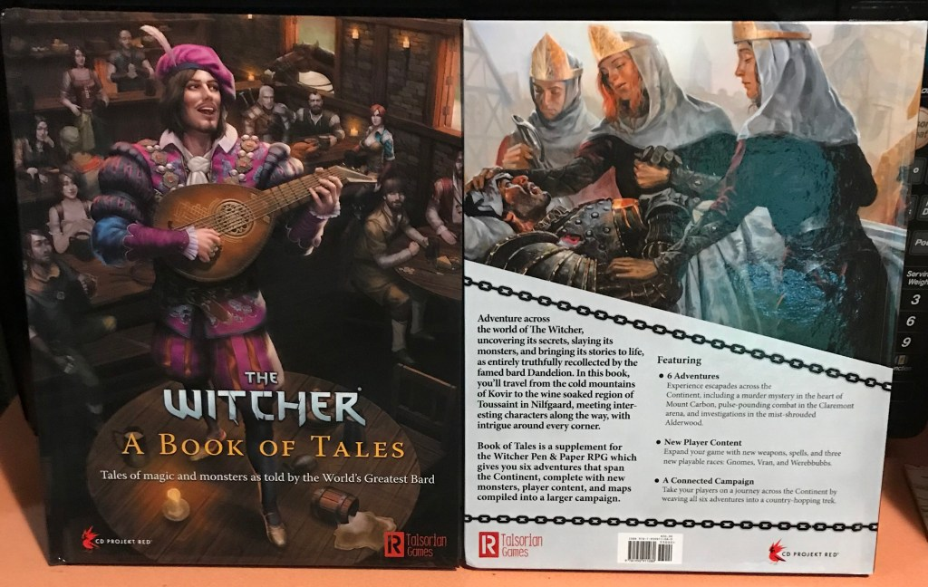 The front and back cover for A Book of Tales.