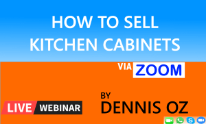 How To Sell Kitchen Cabinets via Zoom
