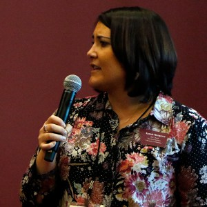 Tannis Hargrove speaking at a conference