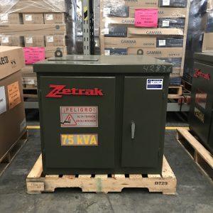 Transformador Zetrak 75 KVA Trifasico 13200v 220/127