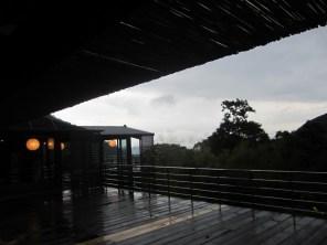 Das Teehaus an einem regnersichen Spätnachmittag
