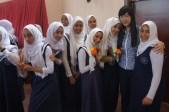 Daphnée dans une école au Sultanat d'Oman