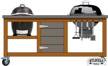 Originele BBQ meubel XXL