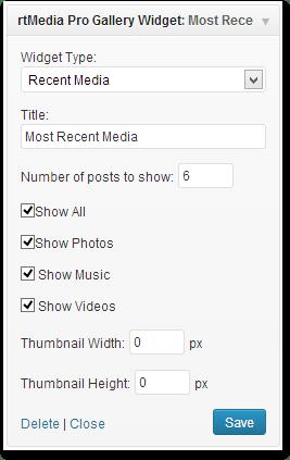 Sidebar gallery widget