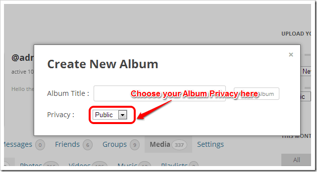 Album Privacy Settings