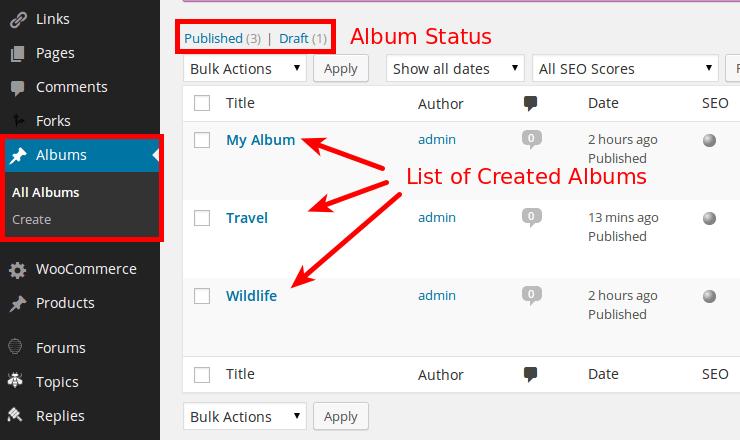 WordPress-Album-Tab