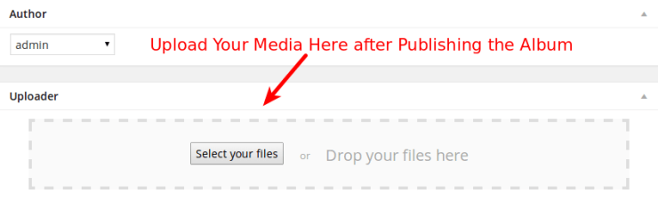 WordPress Album Upload
