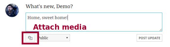 attach media button