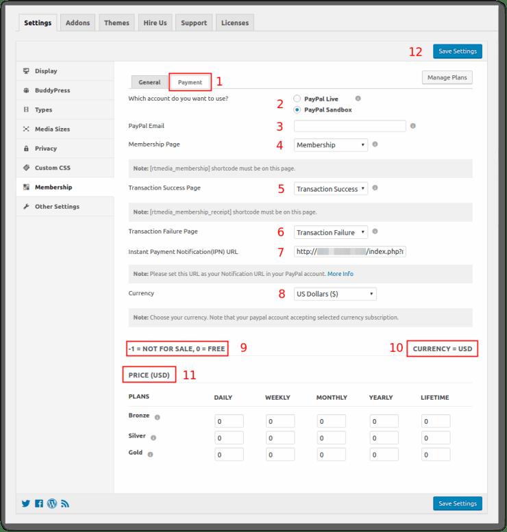 rtmembership-payment-admin-settings