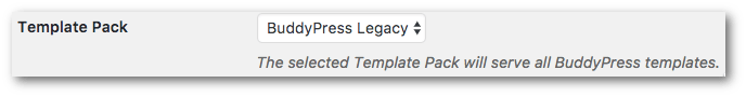 BuddyPress 2.9 Template UI