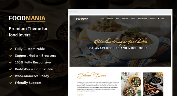 FoodMania - The Best WordPress Food Blogging Community and Restaurant Review Theme