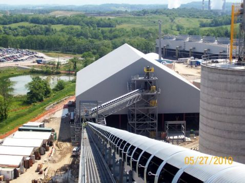 Limestone Conveyor at Longview Power Plant (Source Mascaro Construction Co.)