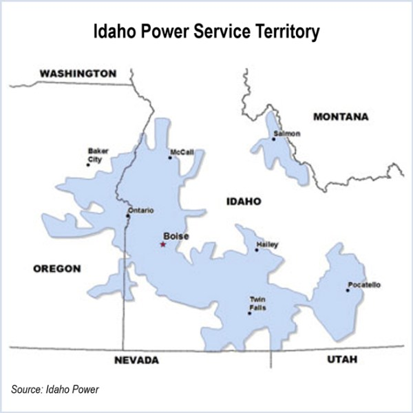 Idaho Power Service Territory, CAISO