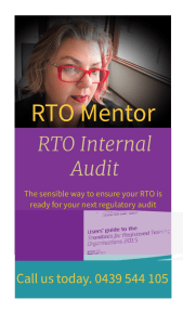 Internal Audit RTO Mentor