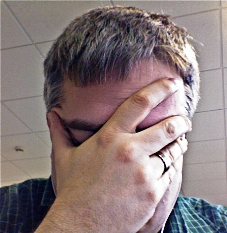 [Picture of man frustrated]