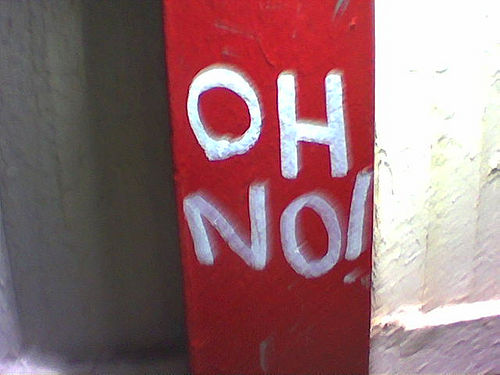 [Picture of graffitti saying Oh No]