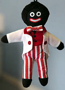 [Picture of a Gollywog ragdoll]