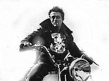 [Picture of James Dean on Motorcycle]