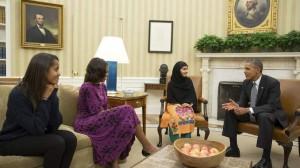 Malal meets Obamas