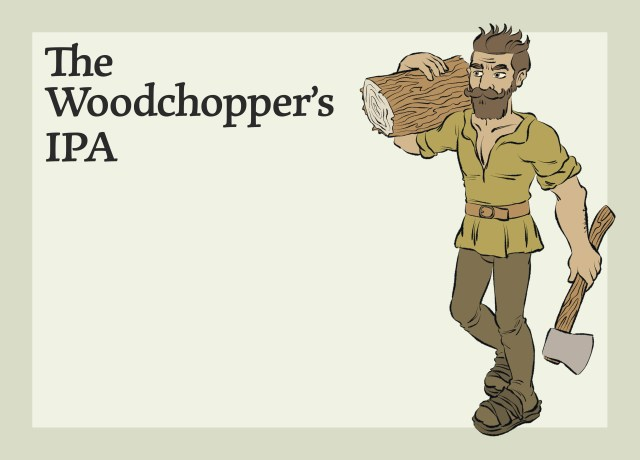 This Image shows the Woodchopper's India Pale Ale.