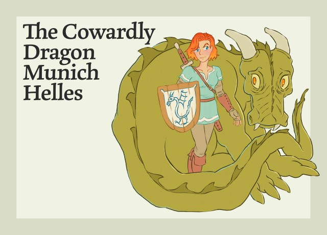 This image shows the Cowardly Dragon Munich Helles.