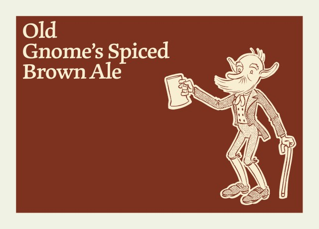This image shows the Old Gnome's Spiced brown Ale.